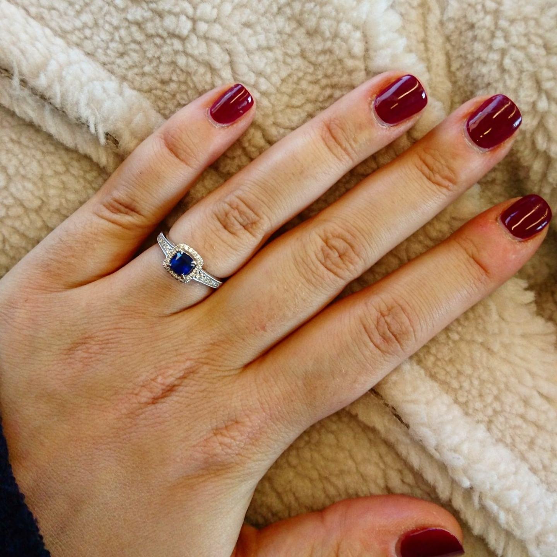 Burgundy Nails up close