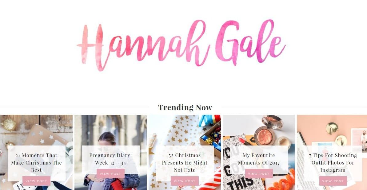 Hannah Gale Blog