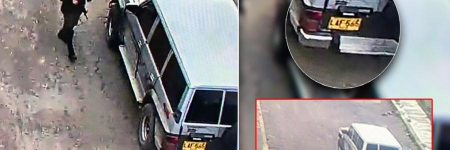 Primeras imágenes de la camioneta con la que se realizó atentado contra la Policía
