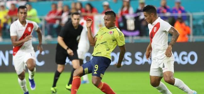 ¡En el minuto de Dios! Colombia, sin brillar, derrotó 1-0 a Perú en Miami