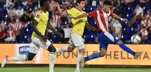 Selección Colombia empata ante Paraguay en su duelo por Eliminatorias