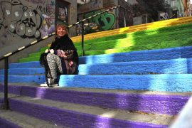 Istanbul rainbow stairs