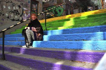Istanbul rainbow stairs