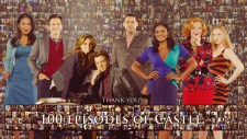 100 Episodes of Castle - Cast Wallpaper