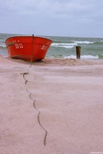red boat @ Baltic Sea