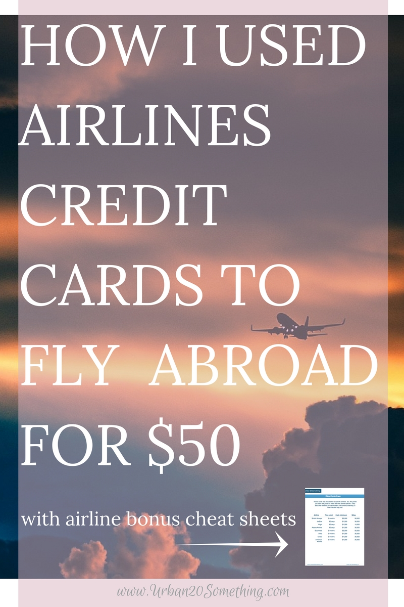 Flying internationally is expensive, but doesn't have to be! Click through and read exactly how I only spent $50 to fly internationally using frequent flyer miles. Plus, grab my free cheat sheet of airline credit cards and travel cards so you can get those points and travel internationally too!