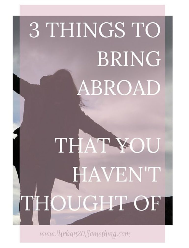 Are you going abroad or dying to travel? Add these three fun things to your suitcase to make the most out of your experience!