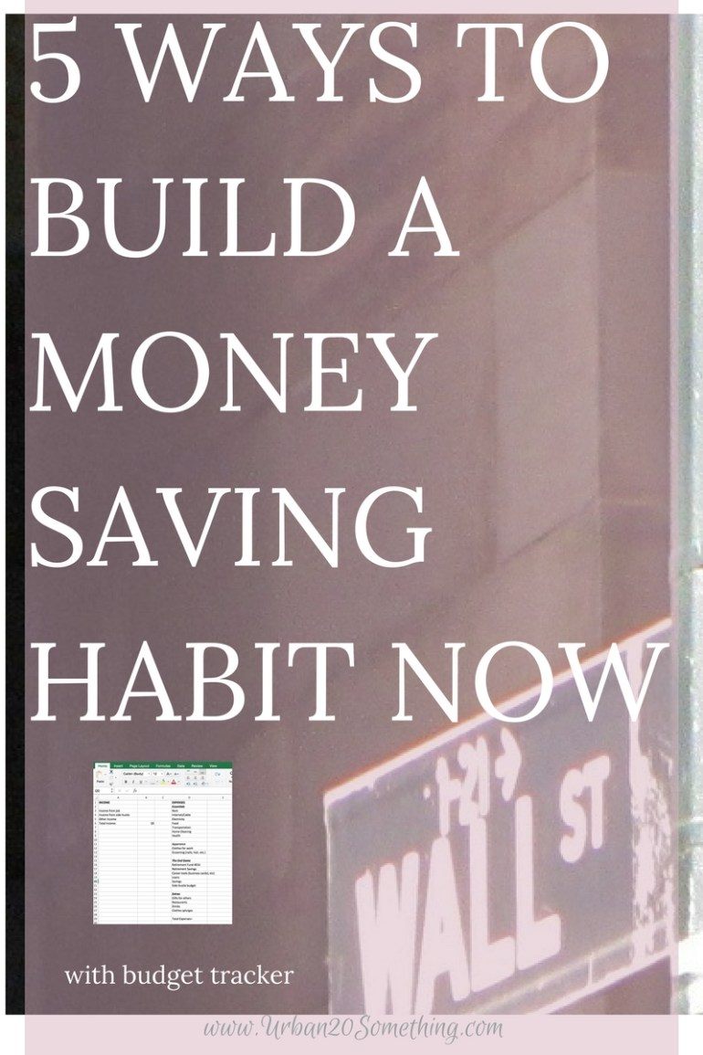 Saving money isn't about how much your income is or how much you invest, it's about building a habit of saving. That habit can be built no matter how young you are or how much money you're making! In fact, the younger the better. Here are 5 simple ways to help build that habit now. Click through for a free budget tracker, too!