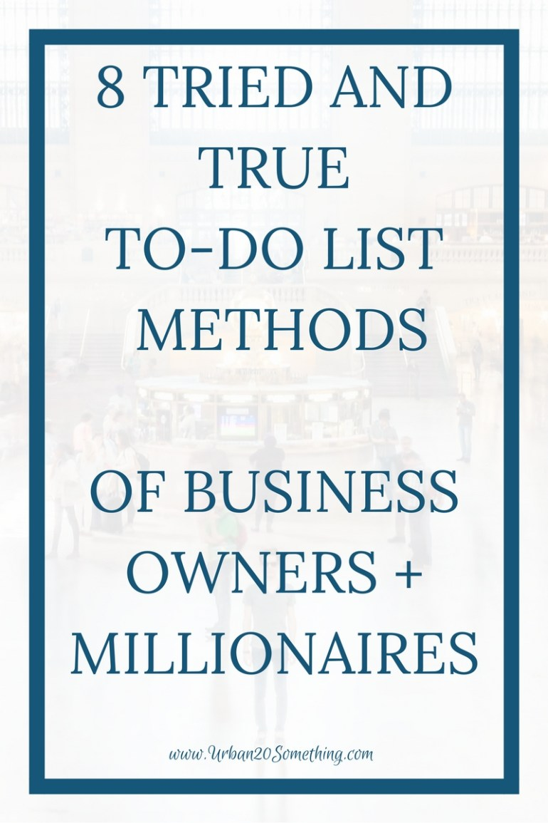 Managing your to-do list is one of the 8 habits of millionaires, so it's important to identify which medium and method works best for you. Click through to read about 8 different ways and decide which works best for you.