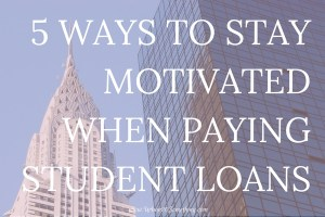 It can be difficult to stay motivated when paying off student debt. Click through for 5 surefire ways to stay motivated when paying off student loans.