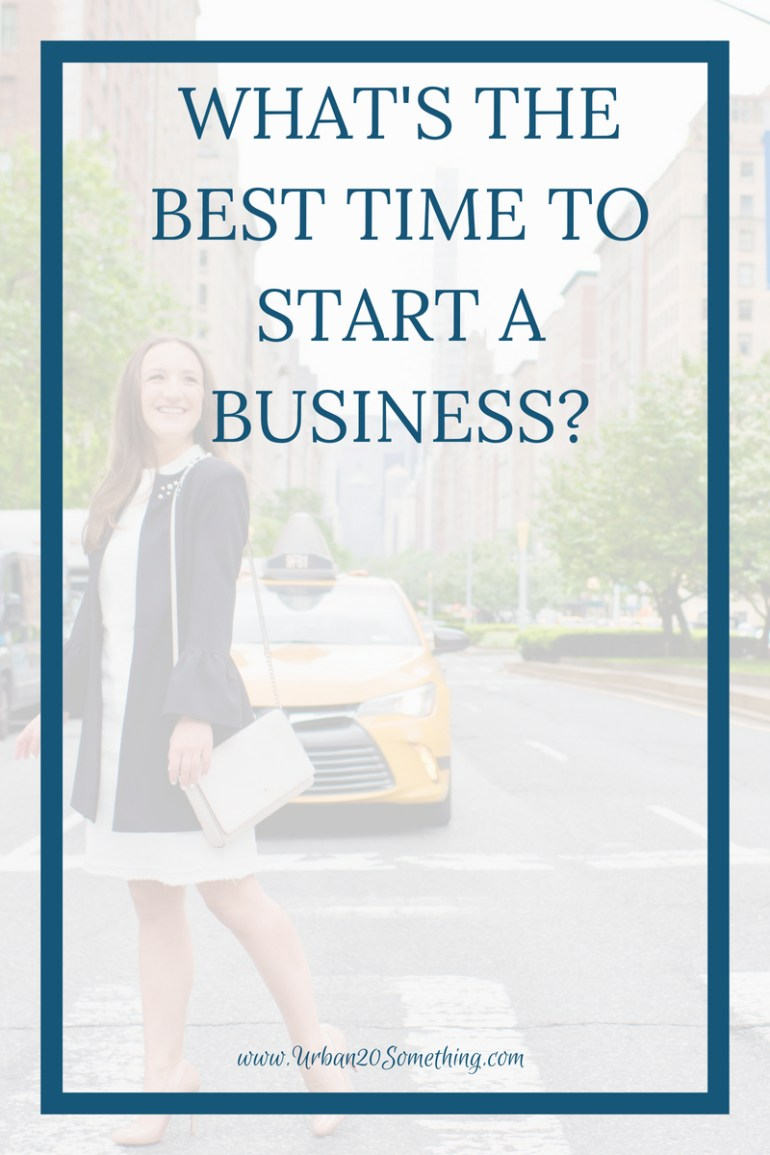 What's the best time to start a business? It's a question that can keep people stuck for far too long. Click through to read my take on the best time to start a business.