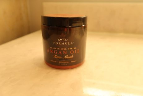 Using this Argan oil hair conditioner to keep my hair healthy and strong in my wedding beauty routine.