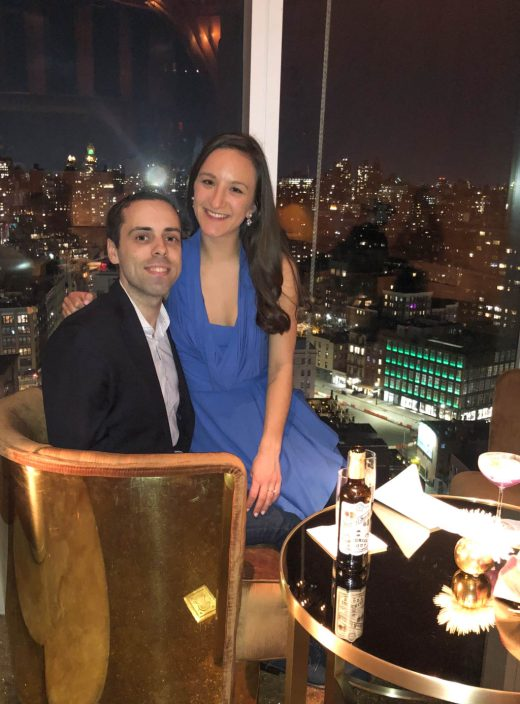 Leah Gervais and Adam Pascarella at the Top of the Standard in NYC.