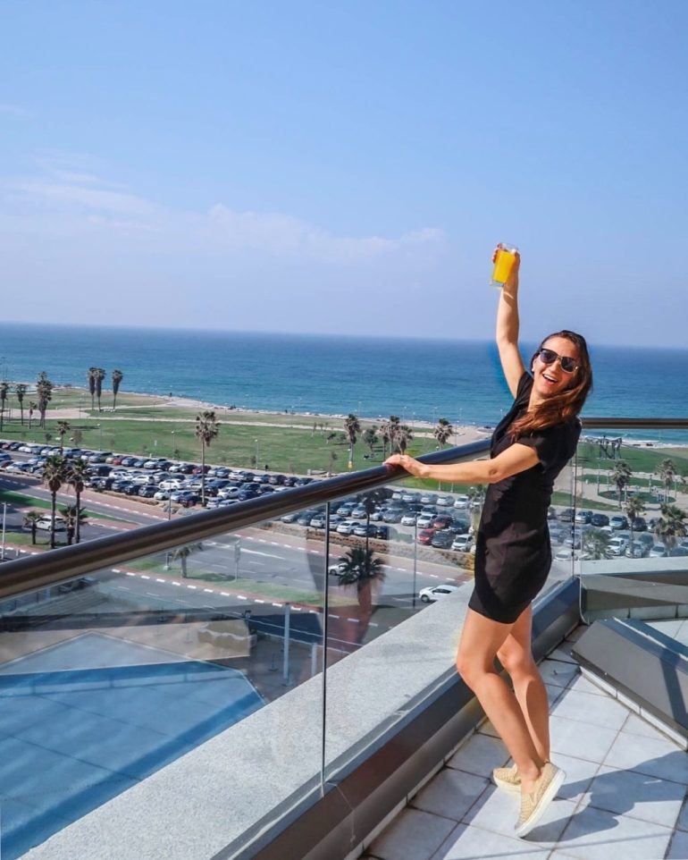 Cheers! A beautiful day in Tel Aviv, Israel!