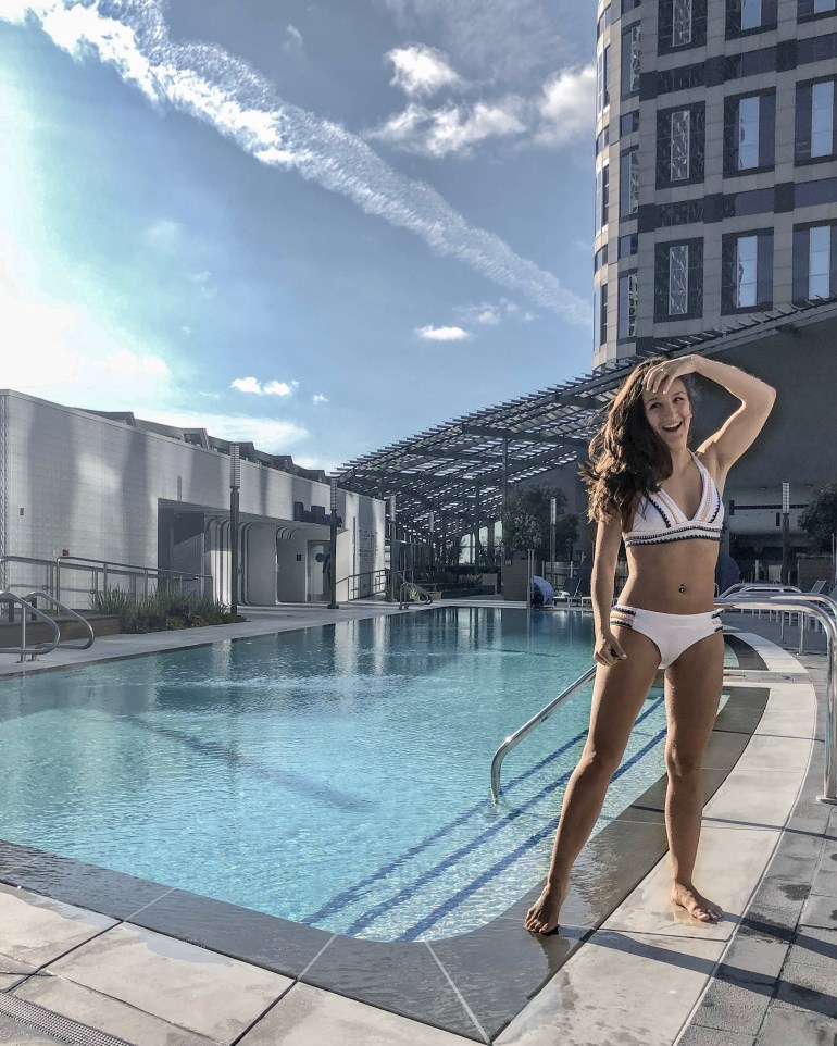 Beautiful rooftop pool at the InterContinental Los Angeles