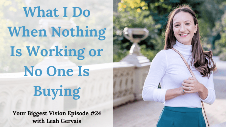 Every entrepreneur experiences times when nothing is working, no one is buying, and the money isn't there. So, what do you do in those situations? Here's what I do. Click through.