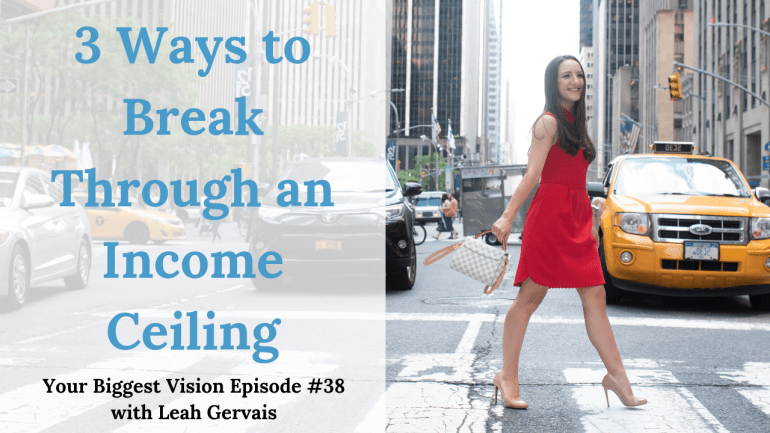 Tune in to this weeks episode to hear about the ways in which you can break through a stagnant income.