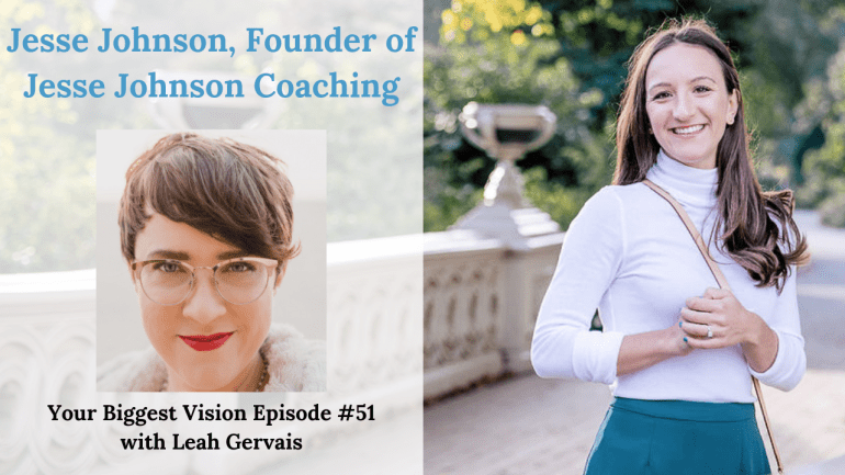 Tune in to this weeks episode to hear Jesse Johnson, founder of Jesse Johnson Coaching talk about her journey of pursuing her vision as a financial coach.