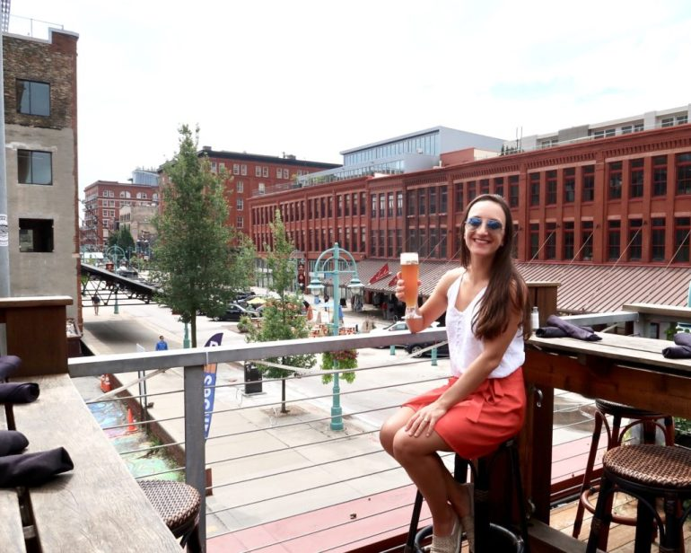 Leah Gervais in the Historic Third Ward in Milwaukee, Wisconsin