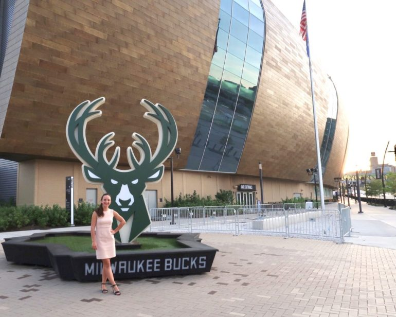 The new Buck's Stadium, the Fiserv Forum, in Milwaukee, Wisconsin