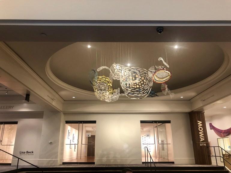 The lobby of the Saint Kate Arts Hotel