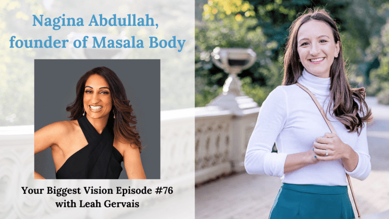 Tune in to hear Nagina Abdullah, founder of Masala Body, talk about the mindset shift that can give you an entrepreneurial superpower and her weight loss!