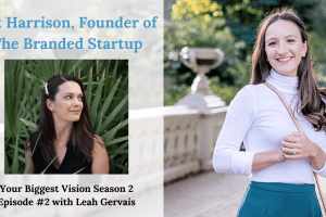 Tune in to episode 2 of the Your Biggest Vision show to hear Vik Harrison, founder of The Branded Startup talk about her journey as an entrepreneur.
