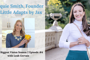 Tune in to hear Jacquie Smith, founder of Little Adapts by Jax, share her journey and advice on entrepreneurship and how to build a healthier lifestyle.