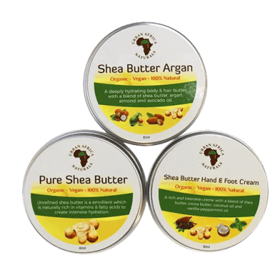 urban africa naturals-shea-butter-sample set-shea-boter