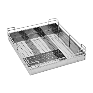 PERFORATED SHEET CUTLERY BASKET (4″ HEIGHT X 19″ WIDTH X 20″ DEPTH) 5MM WIRE