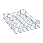 Glass Basket (4″ Height X 19″ Width X 20″ Depth) 5mm wire Stainless Steel