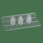 Glass Rack 2″ Height X 10″ Width X 32″ Depth Stainless Steel