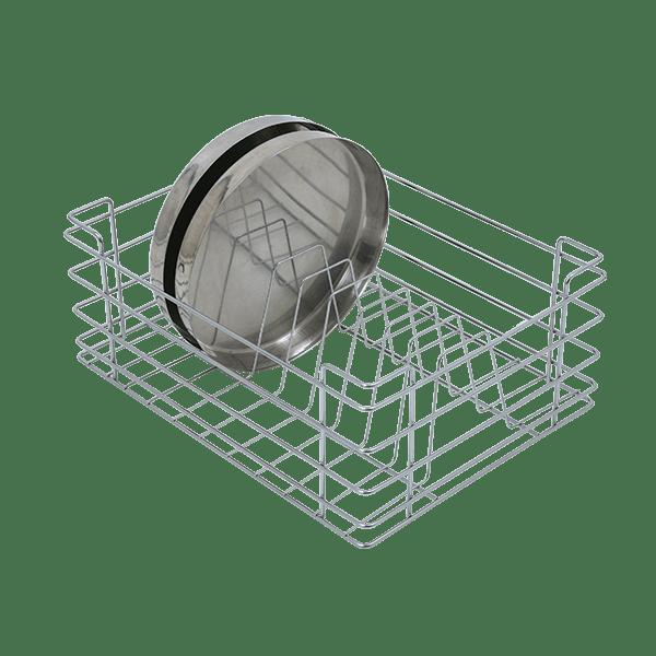 Thali Basket (8″ Height X 12″ Width X 20″ Depth) Stainless Steel