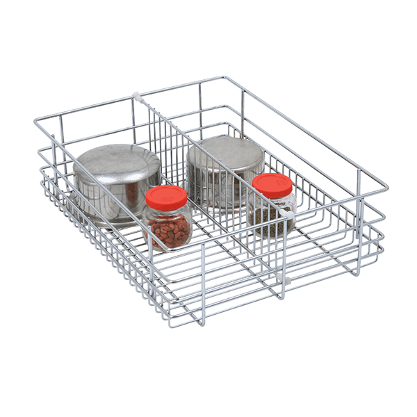 Partition Drawer Basket (8″ Height X 21″ Width X 20″ Depth) 6mm wire Stainless Steel