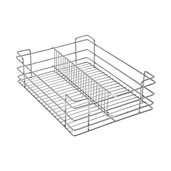 Partition Basket (4″ Height X 12″ Width X 20″ Depth) 5mm wire Stainless Steel