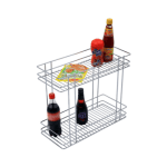 DOUBLE PULL-OUT BASKET (17″ HEIGHT X 8″ WIDTH X 20″ DEPTH) 6MM WIRE STAINLESS STEEL