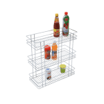 TRIPLE BASKET PULL-OUT (21″ HEIGHT X 8″ WIDTH X 20″ DEPTH) STAINLESS STEEL