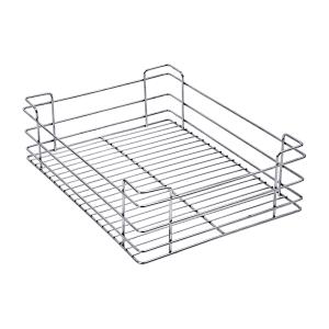 PLAIN DRAWER BASKET (8″ HEIGHT X 19″ WIDTH X 20″ DEPTH) 5MM WIRE STAINLESS STEEL