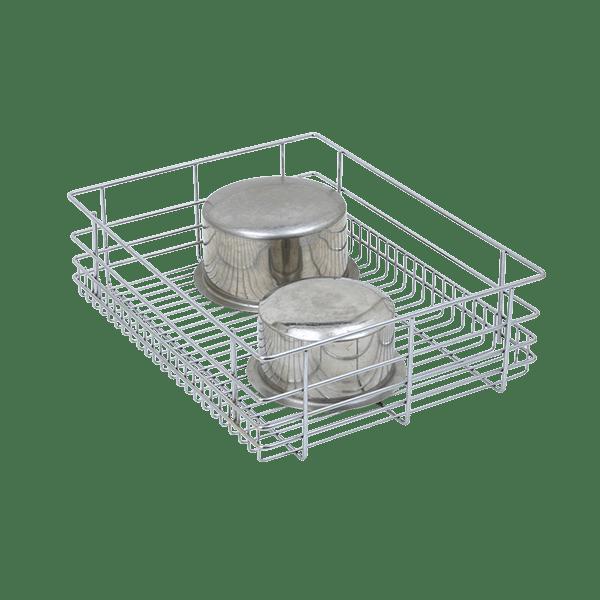 PLAIN DRAWER BASKET (8″ HEIGHT X 17″ WIDTH X 20″ DEPTH) 6MM SS WIRE