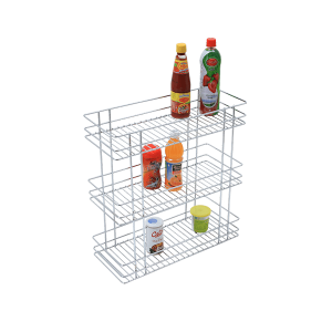 Triple Basket Pull-Out (21x6x20) Stainless Steel