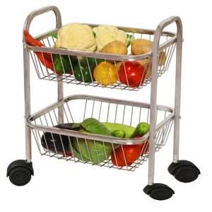 Stainless Steel Vegetable Trolley Gagan Enterprises Ludhiana