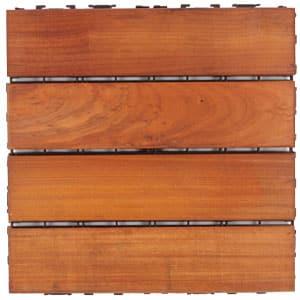 close up of garapa balcony deck tile