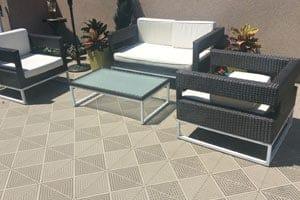 sandy beige swedish deck tiles installed