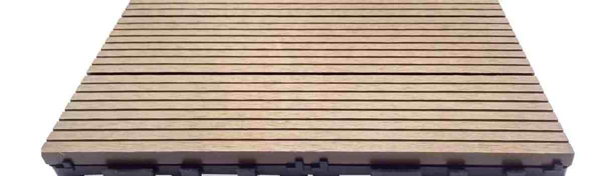 teak Dura composite deck tile
