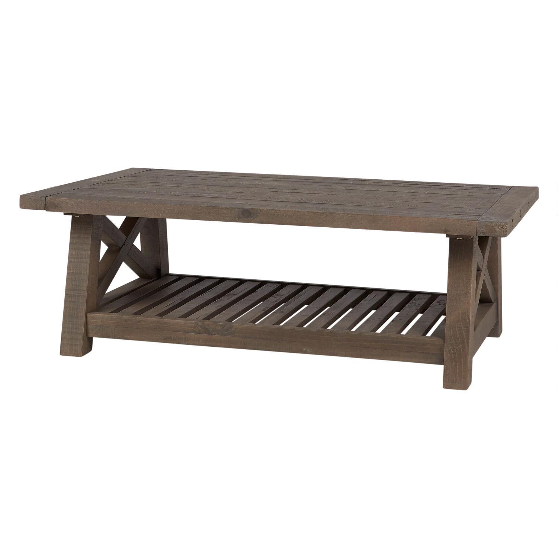 ironside coffee table rustic grey