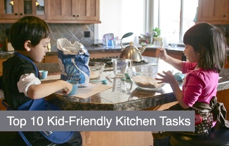 Top 10 Tuesday: Top Kid-Friendly Kitchen Tasks