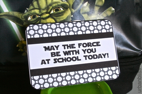Star Wars Lunch Love Notes Free Printable PDF File by Urban Bliss