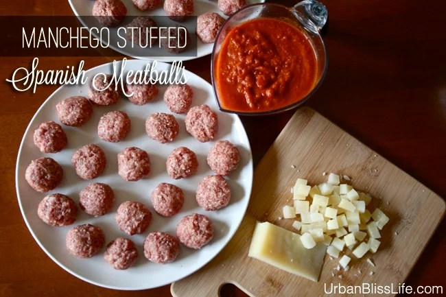 Manchego Cheese Stuffed Spanish Meatballs Recipe