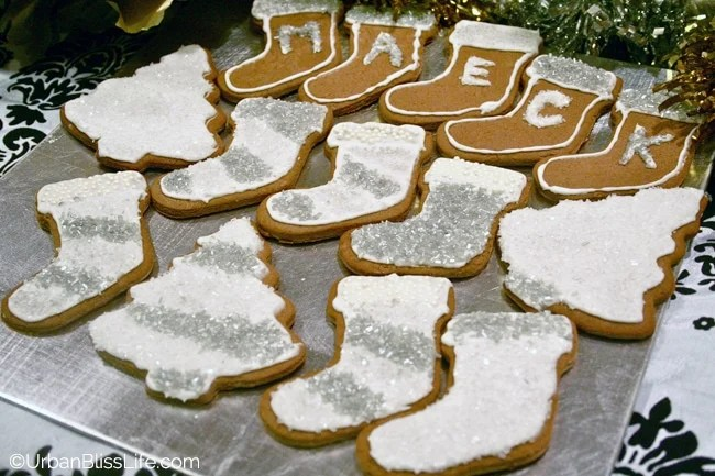 Gold Silver White Christmas - Cookie Plate