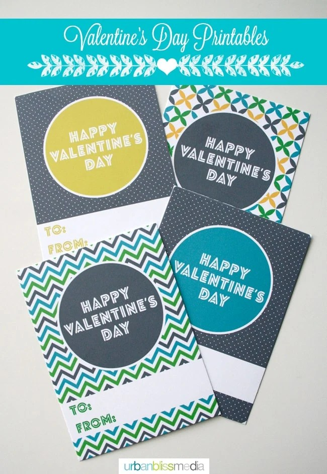 Geometric Mod Valentine's Day Card Printables